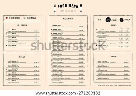 restaurant menu design template layout logo のベクター画像素材