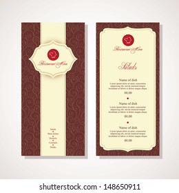 Restaurant menu design in vector