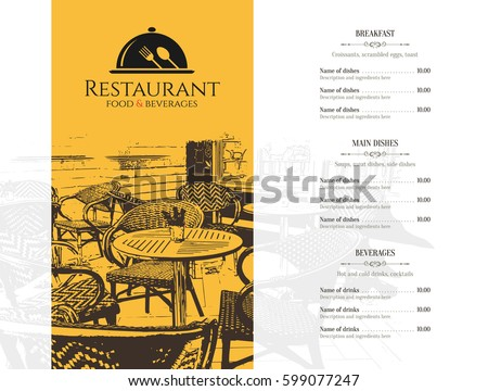 restaurant menu design vector menu brochure のベクター画像素材