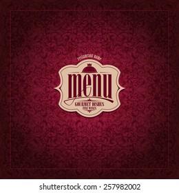 Restaurant Menu Design Vintage card