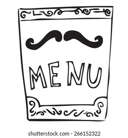 Restaurant Menu Doodle