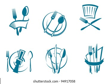 Restaurant menu icons and symbols set for food industry design. Jpeg version also available in gallery