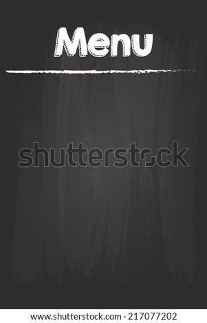 Restaurant Menu On Blank Blackboard