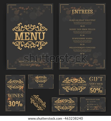 restaurant menu template elegant design food stock vector royalty