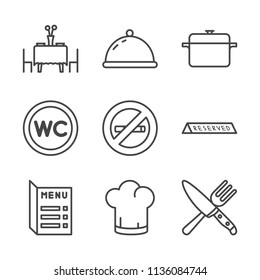 Restaurant outline icon