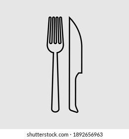 restaurant outline icon isolated vector illustration