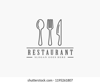 Restaurant, resto, food court, cafe logo template