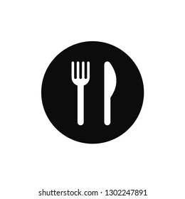 Restaurant rounded icon