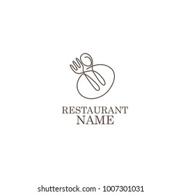 restaurant scoop and fork logo