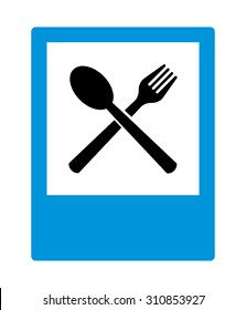 Restaurant sign, on vector background.