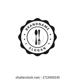 restaurant simple logo design vector