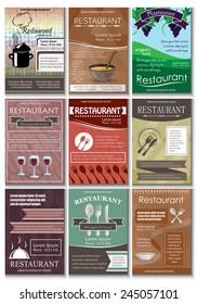 Restaurant Template Set - Vector Illustration, Graphic Design, Editable For Your Design