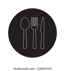 Restaurant thin line icon vector isolated on white background. Restaurant icon in flat style. Template for app, label, logo, menu and web site. Creative art concept, vector illustration
