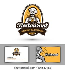 restaurant vector logo. cafe, diner or bistro icon