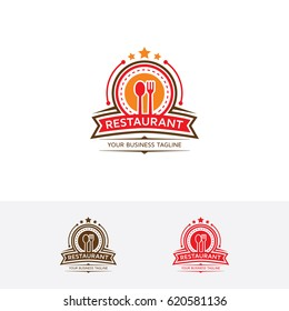 Restaurant, Vector logo template