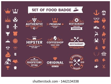 Restaurant Vintage Vector for banner, poster, flyer