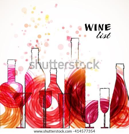 restaurant wine bar menu template sketch stock vector royalty free