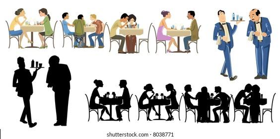 Restaurants Goers Collection-vector