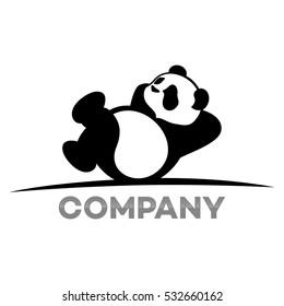 Resting panda logo