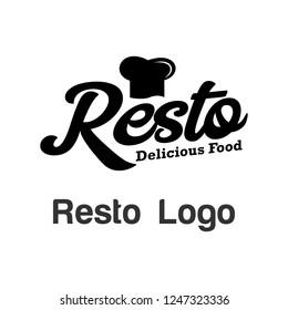 Resto Logo Template Stock Photo
