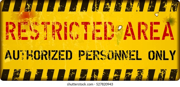 restricted area, sign,vector