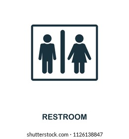 Restroom icon. Line style icon design. UI. Illustration of restroom icon. Pictogram isolated on white. Ready to use in web design, apps, software, print