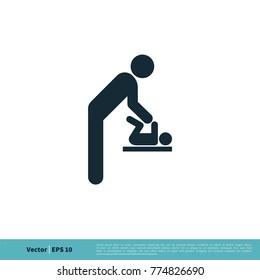 Restroom Icon Vector Logo Template Illustration Design. Vector EPS 10.