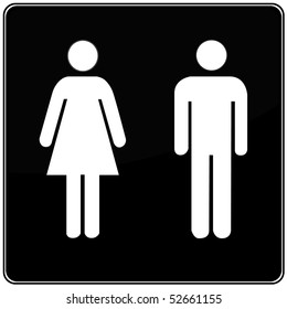 restroom icon-enter vector