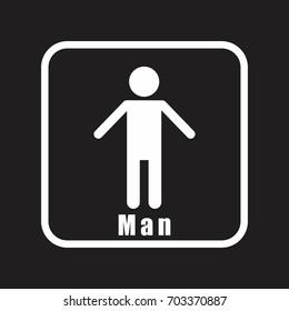 Restroom man icon