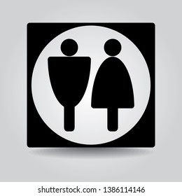 Restroom man and woman sign. Vector Illustration.