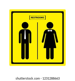 Restroom sign, Male and Female symbol