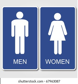 Restroom Signs Illustration