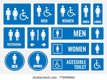 restroom signs and toilet icons