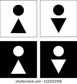 restroom signs, WC man, woman. Vector Illustration