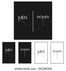 Restroom, toilet, wc sign, pictogram