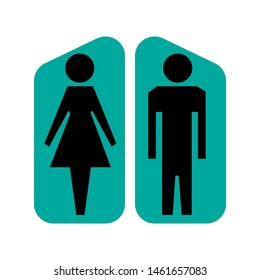 Restrooms icon maps cymbol illustration
