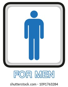 Restroom/Washroom Signs design in vector for men and women.