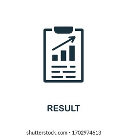Result icon. Simple element from consulting collection. Filled Result icon for templates, infographics and more.