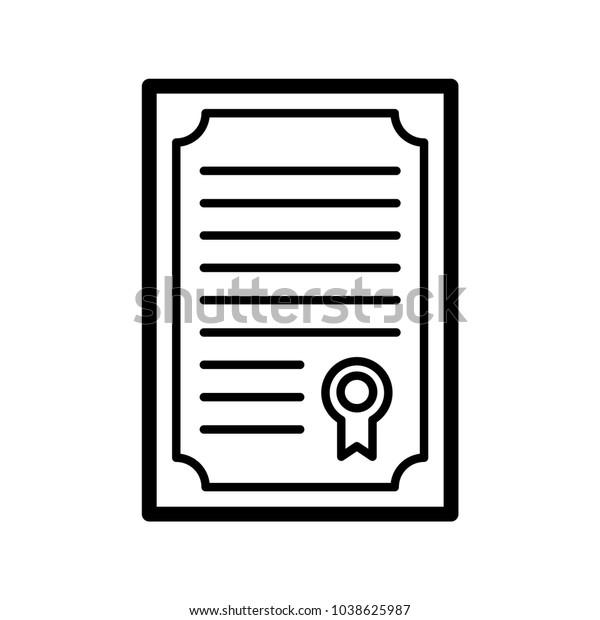 Resume Certificate Vector Icon Education Logo Stock Vector