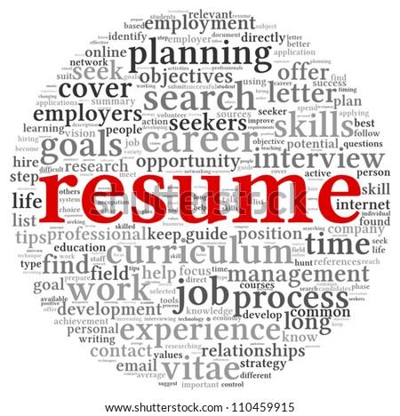 Word Resume   Resume Concept Word Tag Cloud On Stock Vektorgrafik Lizenzfrei