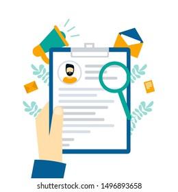 Resume Curriculum Vitae Job Search Recruiting Stock Vector