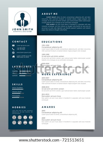 Resume design template minimalist cv business stock vector royalty resume design template minimalist cv business layout vector clean for job applications in a4 cheaphphosting Choice Image