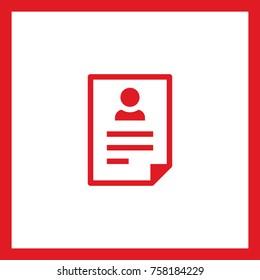 resume document line vector icon