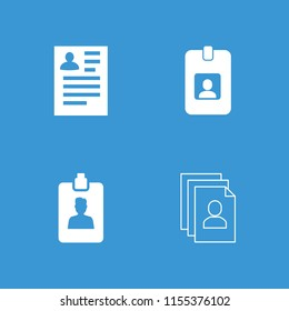 Resume icon. collection of 4 resume filled and outline icons such as . editable resume icons for web and mobile.