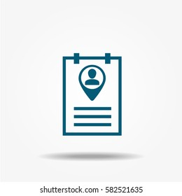 Resume icon, vector sign.