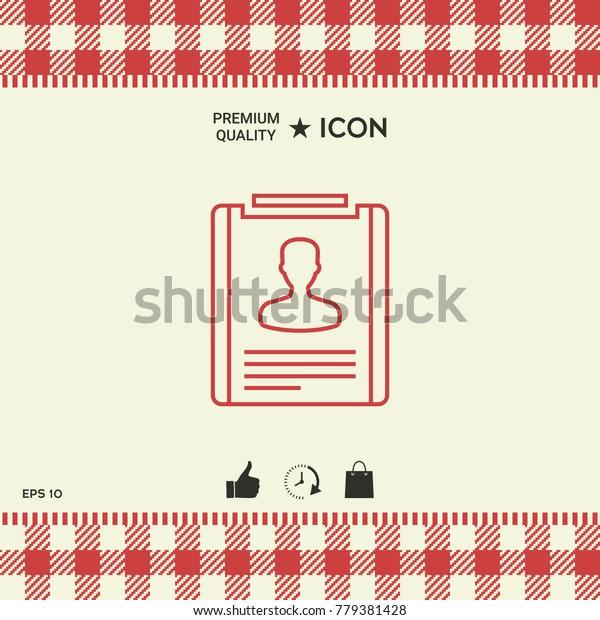 Resume line icon