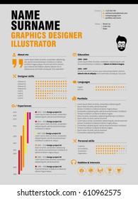 Resume Minimalist CV, Resume template with simple design, company application CV