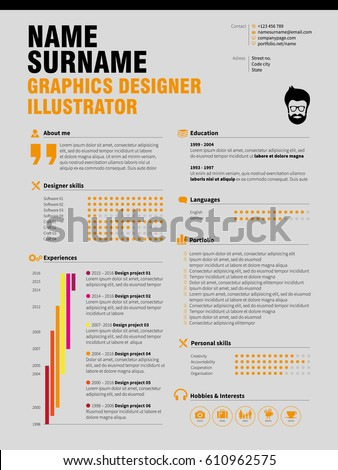 resume minimalist cv resume template simple のベクター画像素材