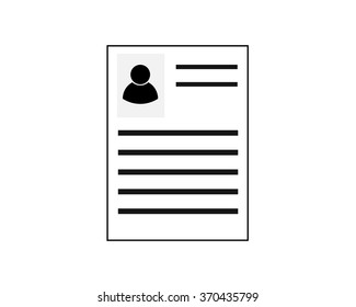 Resume Profile Employee Line Icon Pixel Perfect Fully Editable