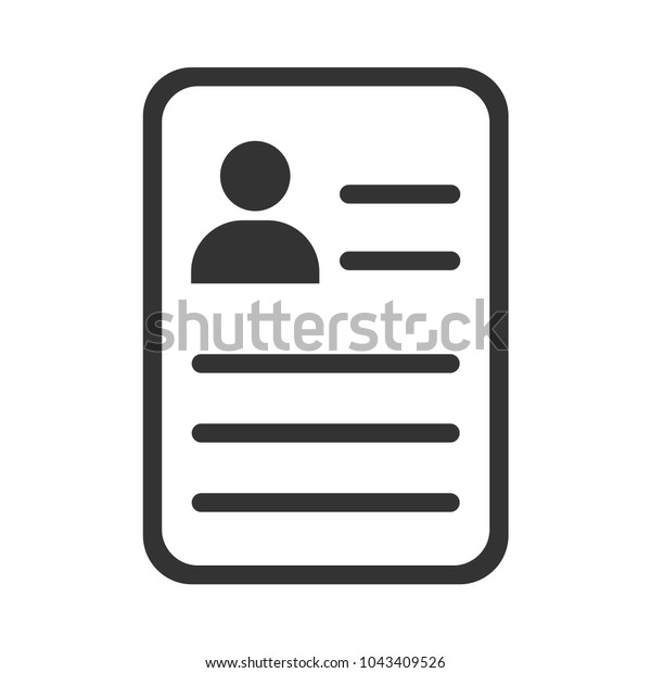 Resume Questionnaire Form Icon Stock Vector Royalty Free 1043409526